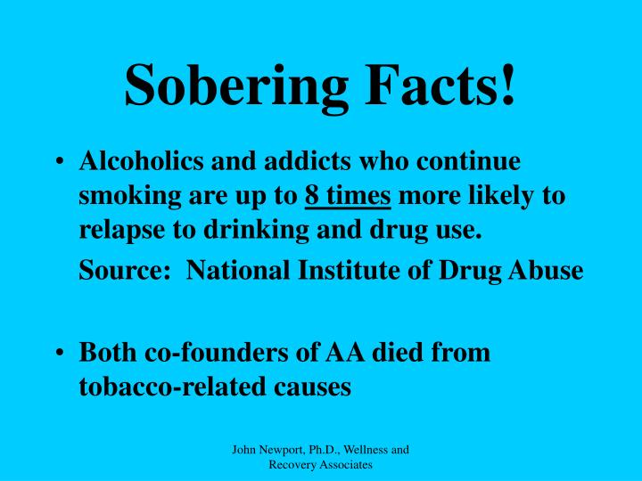 Sobering Facts!