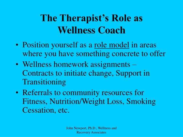 The Therapist's Role as