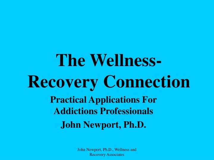 The wellness recovery connection