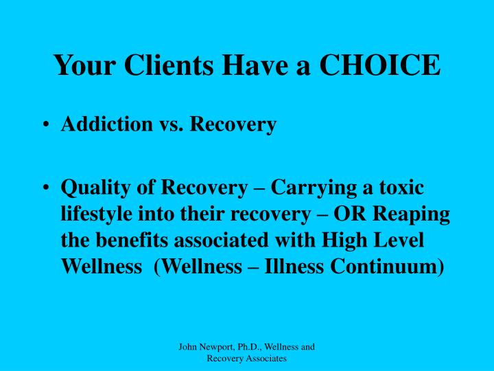 Your Clients Have a CHOICE
