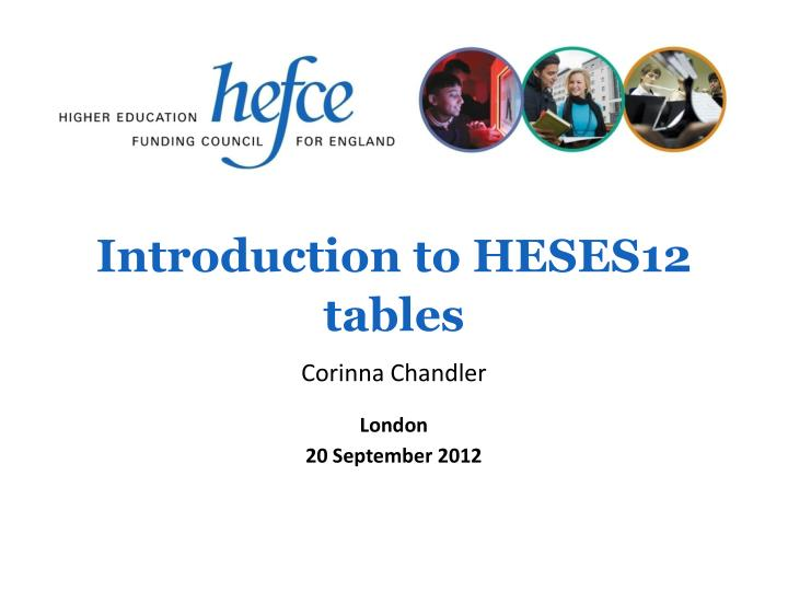 Introduction to heses12 tables