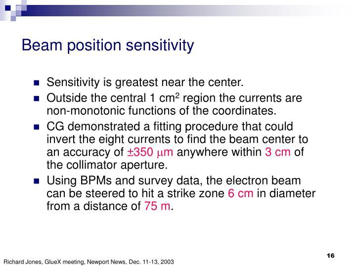 Beam position sensitivity