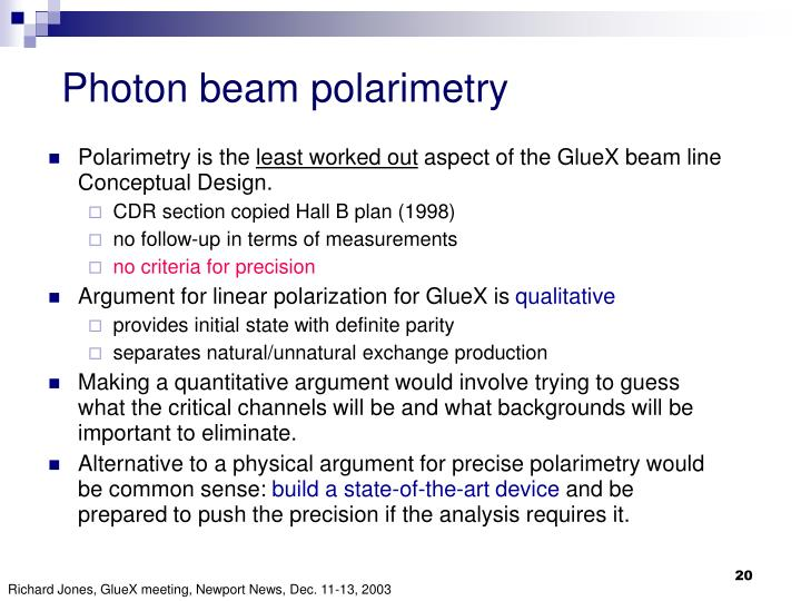 Photon beam polarimetry