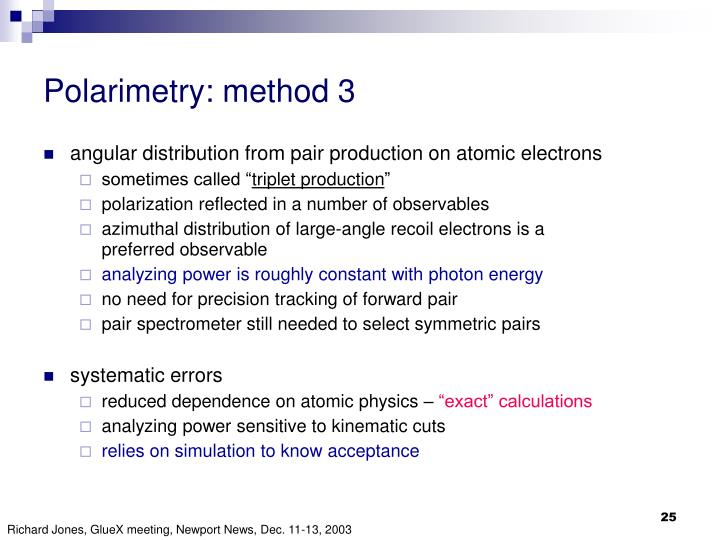 Polarimetry: method 3