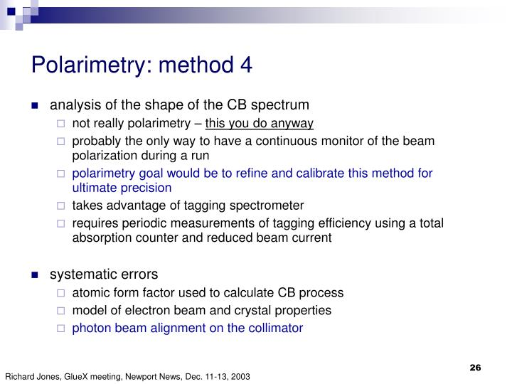 Polarimetry: method 4