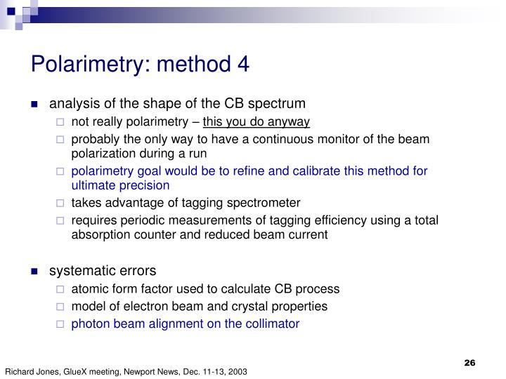 Polarimetry: method 4