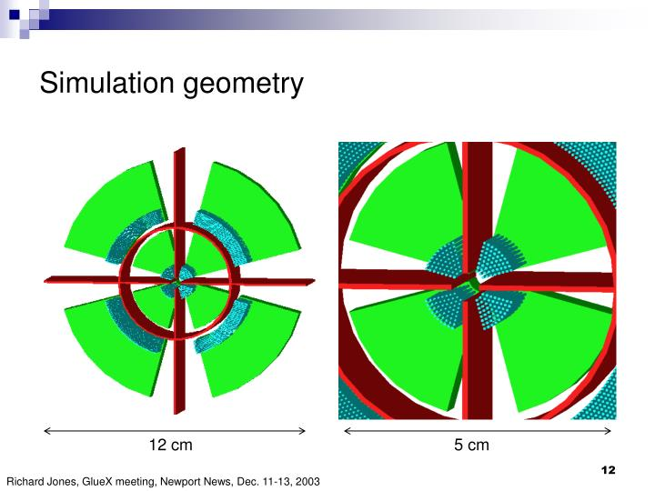 Simulation geometry