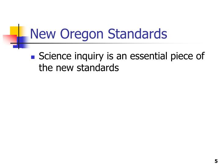 New Oregon Standards