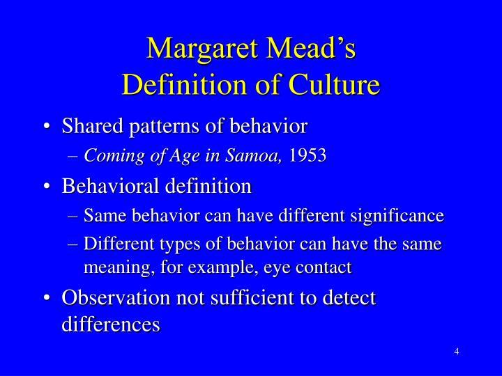 Margaret Mead's