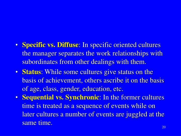 Specific vs. Diffuse