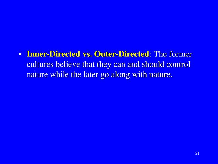 Inner-Directed vs. Outer-Directed