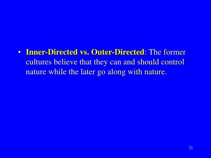Inner-Directed vs. Outer-Directed