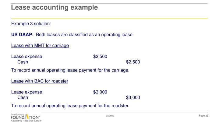 Lease accounting example