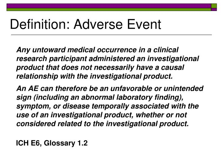 Definition: Adverse Event