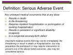 definition serious adverse event