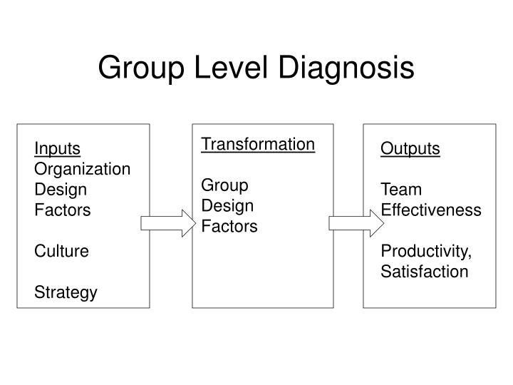 Group Level Diagnosis