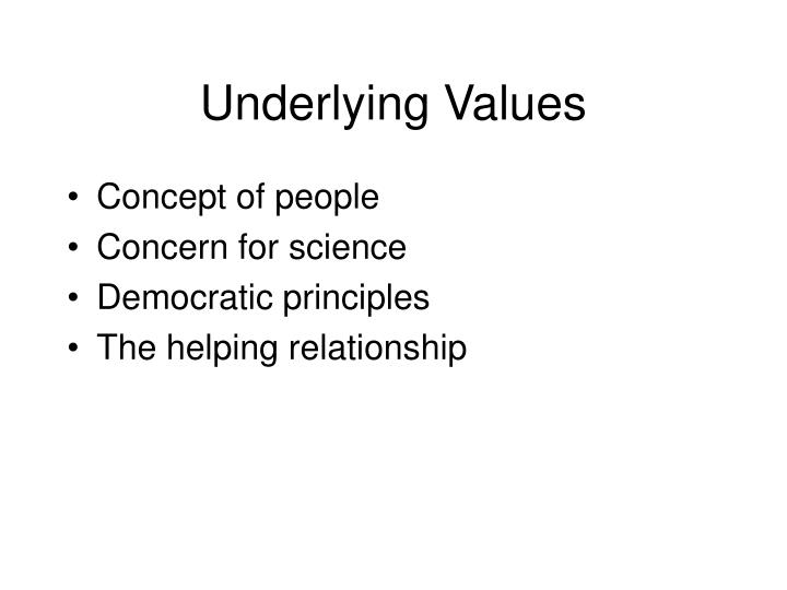 Underlying Values