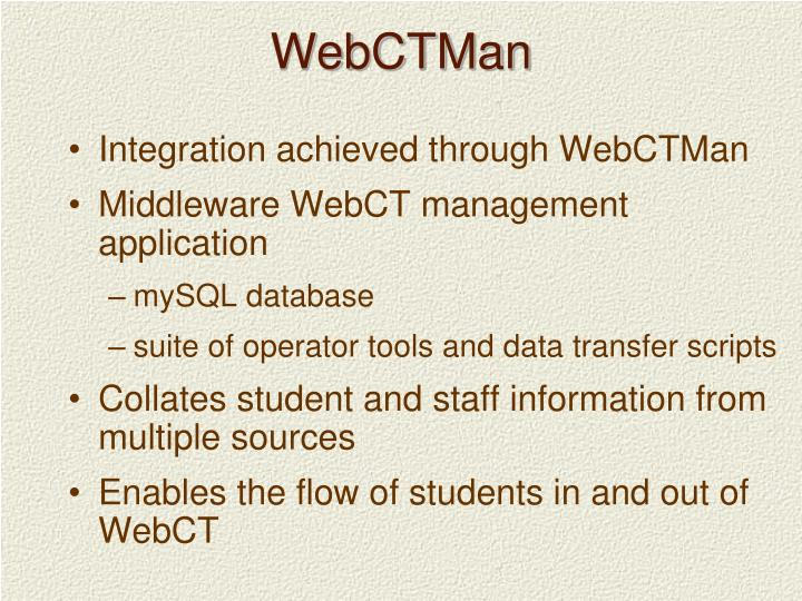 WebCTMan