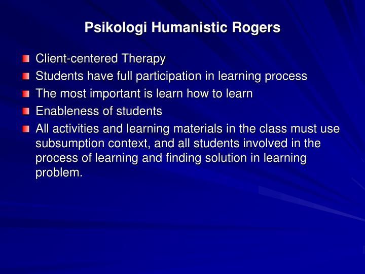 Psikologi Humanistic Rogers