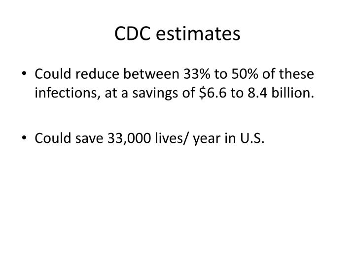 CDC estimates