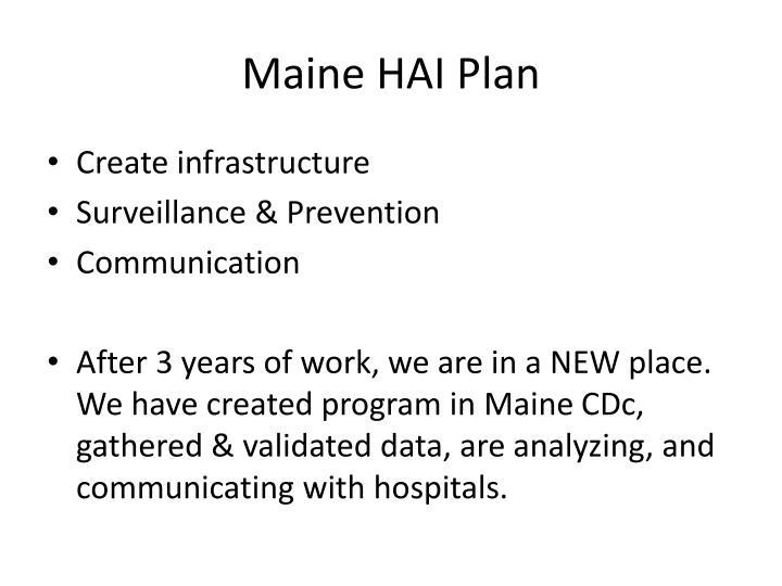 Maine HAI Plan