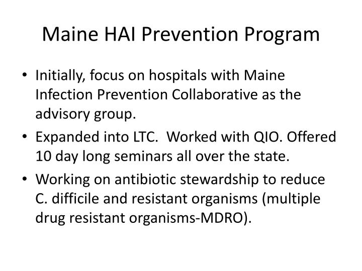 Maine HAI Prevention Program