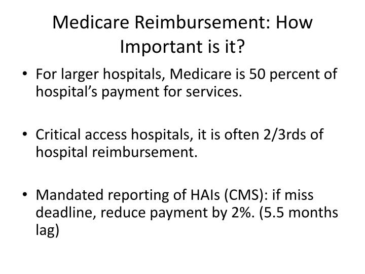 Medicare Reimbursement: How Important is it?