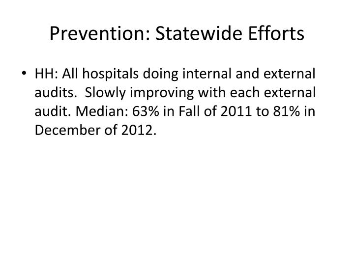 Prevention: Statewide Efforts