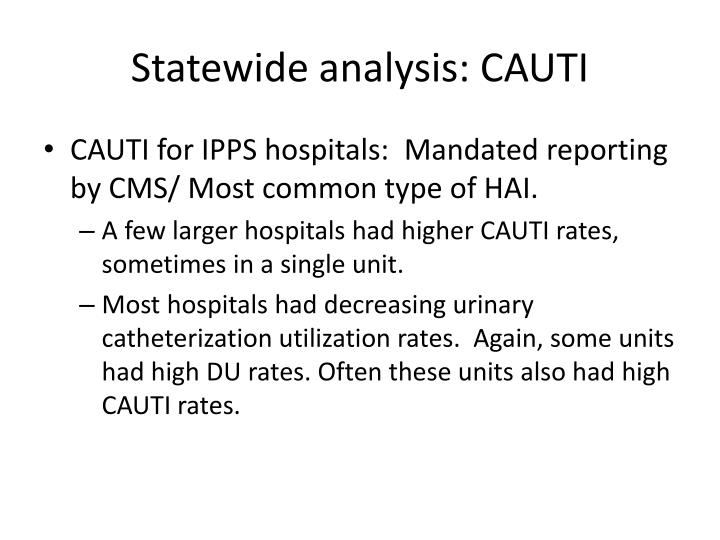 Statewide analysis: CAUTI