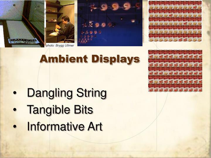 Ambient Displays