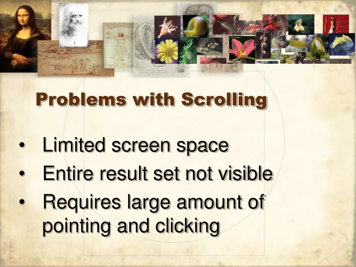 Problems with Scrolling