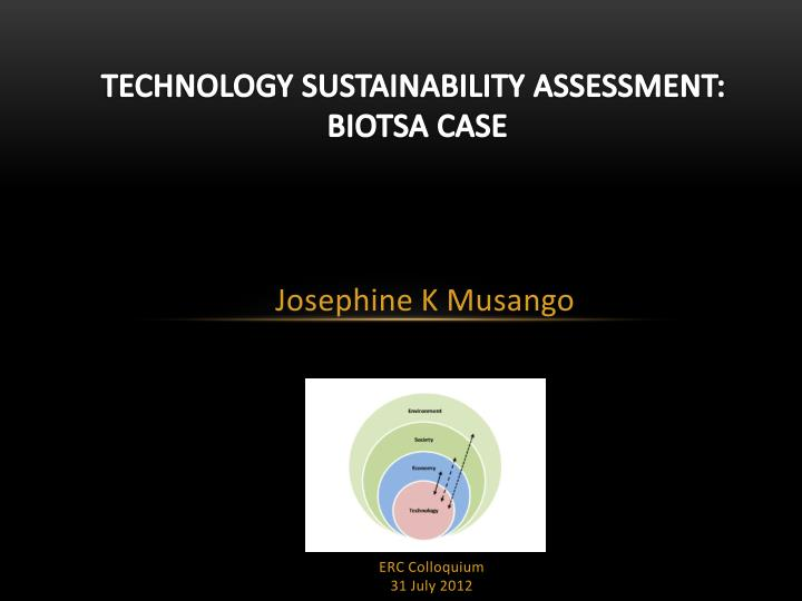 Technology sustainability assessment biotsa case