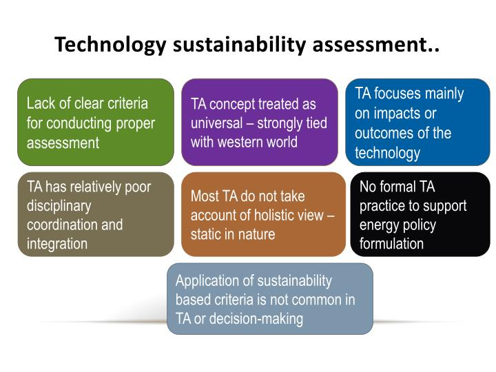 Technology sustainability assessment