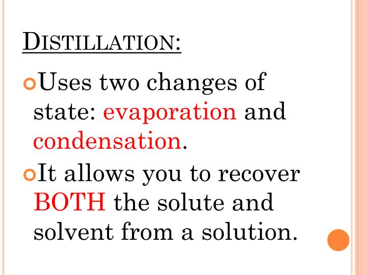 Distillation: