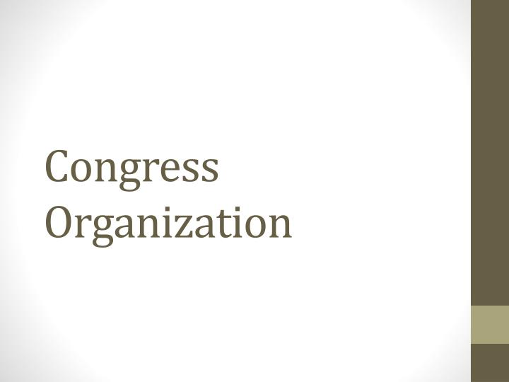 Congress organization