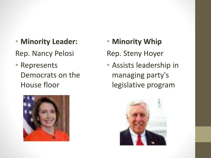 Minority Leader: