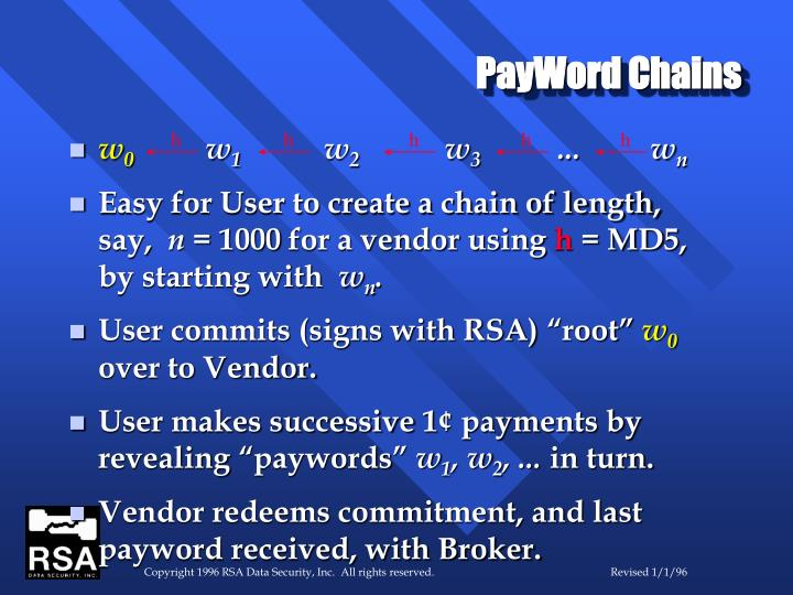 PayWord Chains