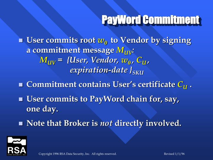 PayWord Commitment