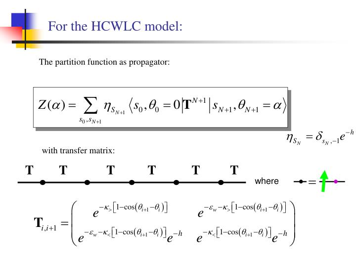 For the HCWLC model: