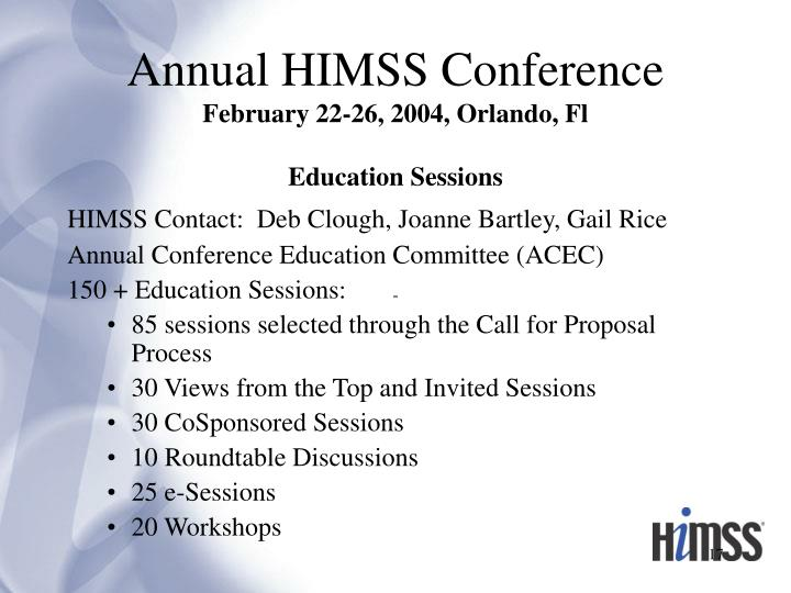 Annual HIMSS Conference