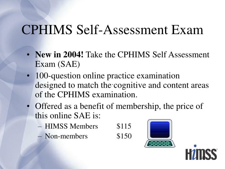 CPHIMS Self-Assessment Exam