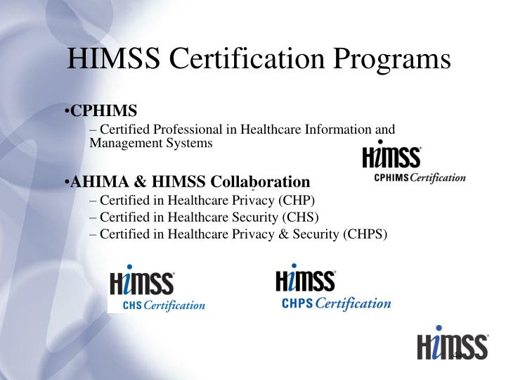 HIMSS Certification Programs