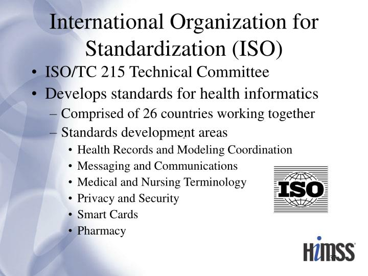 International Organization for Standardization (ISO)