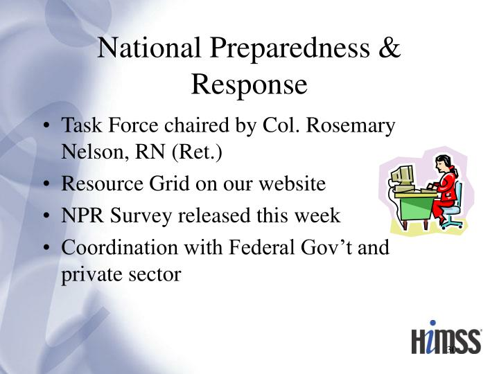 National Preparedness & Response