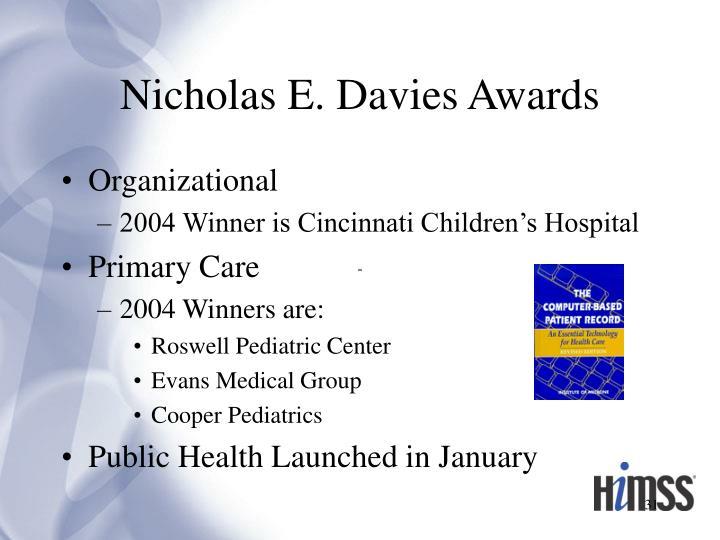 Nicholas E. Davies Awards