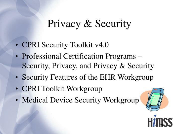 Privacy & Security