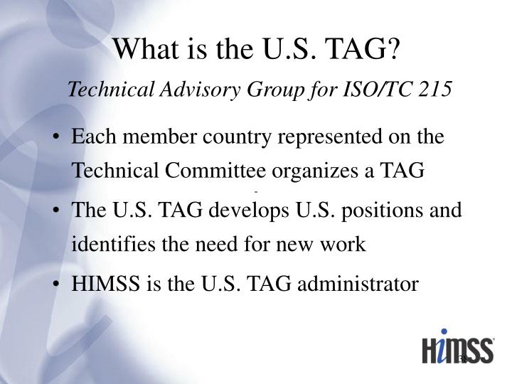 What is the U.S. TAG?
