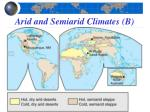 arid and semiarid climates b2