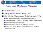polar and highland climates