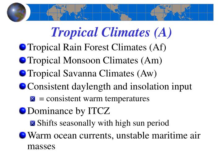 Tropical Climates (A)